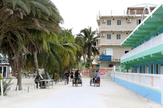 The streets of Caye Caulker
