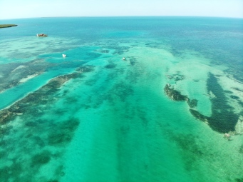 The colours of the Caribbean Sea