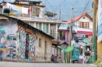 The streets of San Pedro, Lake Atitlan