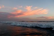 Stunning sunset at Las Penitas beach