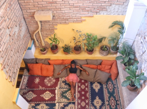 Selina is an amazing hostel, this is one of the many beautiful spaces I fell in love with at the hostel